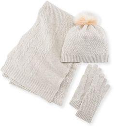 375c96ef7 Cashmere Hat Scarf   Gloves Set
