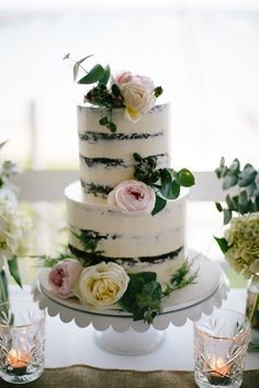 Rustic chocolate semi naked cake with pink peonies and cream roses | Elk & Willow Photography | See more: http://theweddingplaybook.com/rustic-meets-gatsby-wedding/