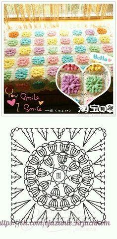 Delicadezas en crochet Gabriela: Motivo puff