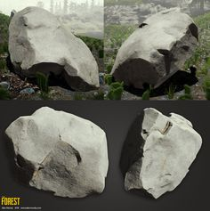 Simple rock - The Forest, Alec Moody on ArtStation at https://www.artstation.com/artwork/simple-rock-the-forest