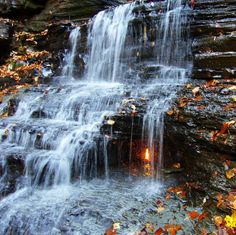 "Eternal Flame Falls in New York - The waterfall is so called because of a simple phenomenon – a natural gas leak just underneath the falls that just happens to be burning. The flame is not really ""eternal"" in the sense that it goes out occasionally. Often it is re-lit by the next hiker that finds it extinguished. By Kaushik Monday, November 19, 2012"