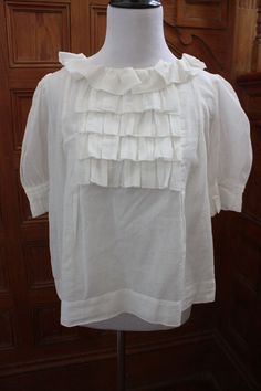 See by Chloe Ivory Top Blouse Size 8 | eBay