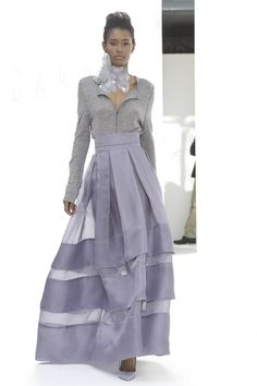 Daks Ready To Wear Spring Summer 2015 London...Wait, love the silhouette & details. Change the color & add embellishments for that bridal look BUT keep the details. Ask your dressmaker for suggestions to achieve this look.