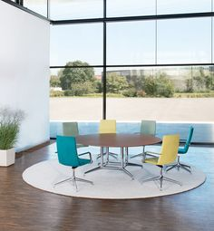 Brunner fina conference table and finasoft chairs... Design: Wolfgang C.R. Mezger