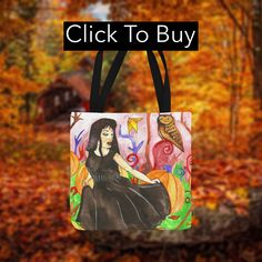 A great design or a gift idea for anyone who loves the fall, the rain and cosy sweaters and walking among autumn leaves. Based on the original watercolor painting by Fairychamber.A spacious and trendy tote bag to help you carry around everything that matters. Large Bags, Small Bags, Pumpkin Field, Cotton Tote Bags, Reusable Tote Bags, Are You The One, Take That, Samhain, Medium Bags