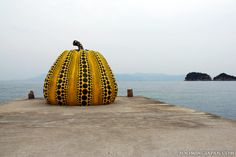 The famous pumpkin on Naoshima Island: http://zoomingjapan.com/travel/naoshima-art-island/