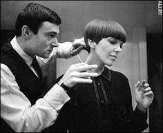 Mary Quant rockin' the Vidal Sassoon haircut.