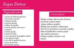 Sopa detox card