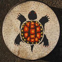 Elkhide Hand Drum Turtle