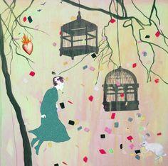 Gro Mukta Holter - The Burning Heart Heart Illustration, Burns, Snoopy, Fine Art, Painting, Fictional Characters, Design, Interiors, Illustrations