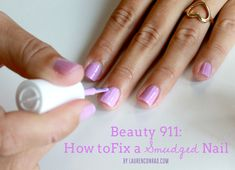 Beauty 911: How to Fix a Smudged Nail