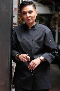 Carlisle Men's Executive Fine Stripe Chef Coat