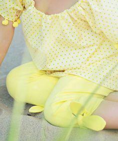 Loving this Yellow Propeller Leggings - Toddler & Girls on #zulily! #zulilyfinds