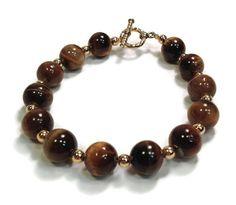 Tiger Eye Bracelet by designsbylaurie on Etsy, $22.00