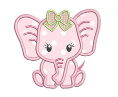 This is just the sweetest little baby girl elephant applique machine embroidery design. 3 sizes are included with your purchase - inch hoops. Step by step applique instructions are included. Baby Embroidery, Applique Embroidery Designs, Machine Embroidery Applique, Learn Embroidery, Applique Patterns, Vintage Embroidery, Applique Designs Free, Star Patterns, Elephant Applique