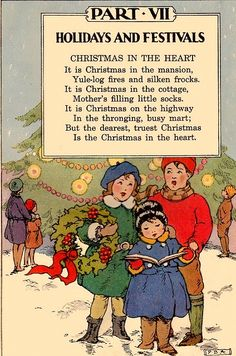 Vintage Christmas -Christmas poem Elson Basic Readers, Book Four by William H. Elson and William S. Gray. Published by Scott, Foresman and Co., 1931 Source: apolarbearstale.blogspot.com
