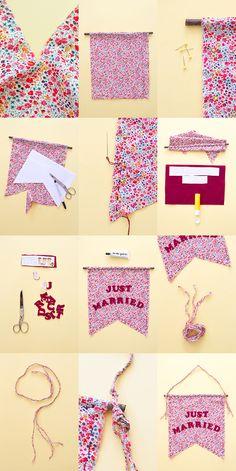 Une jolie bannière en tissu à fabriquer en 20 minutes chrono via unbeaujour