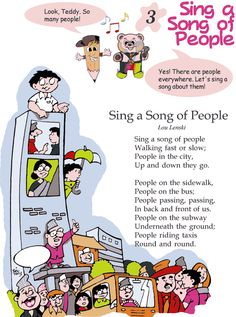 Grade 2 Reading Lesson 3 Poetry - Sing A Song Of People