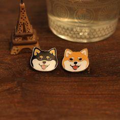 SHIBA INU Head - Hard Enamel Pins by SugarANDJujube on Etsy https://www.etsy.com/listing/522635804/shiba-inu-head-hard-enamel-pins
