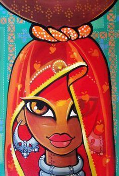 41 best Ideas for modern art design artworks paintings Indian Artwork, Indian Folk Art, Indian Art Paintings, Modern Indian Art, Abstract Paintings, Oil Paintings, Rajasthani Painting, Rajasthani Art, Madhubani Art