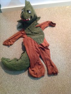 Dragon costume from a Kermit the frog pattern