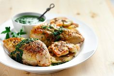 We call it the pair-it-up Parsley Sauce, because it goes great with almost anything! Pour it over tender oven chicken, or add extra canola oil for a heart-healthy salad dressing! Parsley and canola oil are great bases since they're mild in flavour!