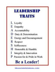 Traits Poster + Crossword Puzzle Display this Leadership Traits poster in your classroom to inspire your students to become leaders!Display this Leadership Traits poster in your classroom to inspire your students to become leaders! Leadership Classes, Leadership Traits, Student Leadership, Leadership Activities, Leadership Development, Professional Development, Leadership Bulletin Boards, Educational Leadership Quotes, Good Leadership Quotes