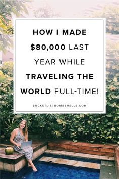 Curious how two 20-somethings built online businesses that give us the freedom to travel the world full-time? In this post, we're sharing all of our behind the scenes secrets so you can learn how to work online & travel the world too! CLICK HERE to see the steps.