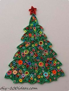 Quilling Christmas Tree - just. Paper Quilling Patterns, Quilled Paper Art, Quilling Paper Craft, Paper Crafts, Quilling Ideas, Diy Crafts, Diy Christmas Cards, Christmas Crafts, Christmas Tree