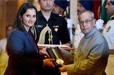 Tennis star Sania Mirza has received India's prestigious sports honor as she gets Rajiv Gandhi Khel Ratna Award from honorable President Pranab Mukherjee. Sania becomes 28th athlete and second tennis player after Leander Paes to get this award. This is the first occasion when a woman tennis player has received India's highest sporting honour. Sania ...