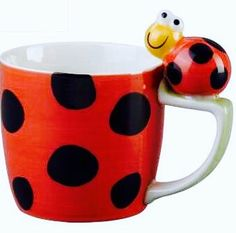 Lady bug mug. Lady Bug, Ladybug Picnic, Café Chocolate, Teapots And Cups, Teacups, Love Bugs, Black Spot, Mug Cup, Biscuit