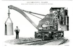 Locomotive crane by Robert Stephenson and Co. Newcastle upon Tyne. From The Engineer 26 August 1898