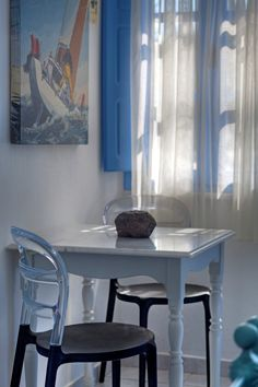 Select between studios, apartments, maisonettes and suites made with special care on every single detail at Marillia Village hotel in Perivolos beach, Santorini Santorini Hotels, Santorini Island, Village Hotel, Dining Chairs, Dining Table, Jacuzzi Outdoor, Honeymoon Suite, Greece, Room