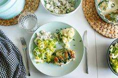 pomysł na obiad - pierś z kurczaka zapiekana ze szpinakiem i mozzarellą Mozzarella