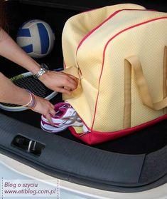 Tutorial jak uszyć torbę ze schowkiem na buty - eti nauka szycia