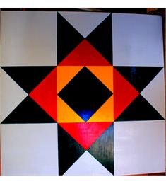 Barn Quilt Block for display.  Easier than you might think.
