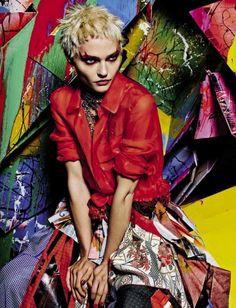 Sasha Pivovarova by Mario Sorrenti for Vogue Italia February 2015