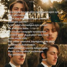 """Vatanim Sensin - Wounded Love Leon's suicide note; Forgive me for putting you through this pain for the second time mother. The…"""""""