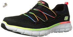 Skechers Sport Women's Loving Life Fashion Sneaker,Black/Multi,7.5 M US - Skechers sneakers for women (*Amazon Partner-Link)