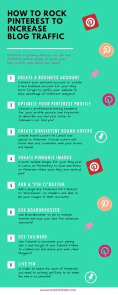 How to Rock Pinterest to Increase Blog Traffic Pinterest tips and tricks to boost your blog traffic! How to use Pinterest if you are a blogger. http://www.amamatale.com