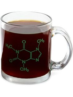 Caffeine Molecule Mug, Glass,  8 oz ❤ ...