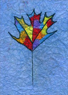 Maple Leaf Batik   Art Projects for Kids