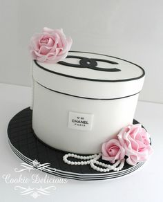 Chanel Hatbox Birthday Cake