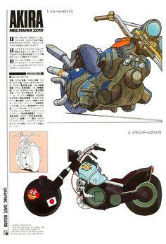 Anime: Kaneda's bike from Akira. Comic Manga, Anime Comics, Comic Art, Manga Anime, Motorcycle Art, Bike Art, Motorcycle Wheels, Akira Anime, Arte Nerd