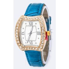 Teal Iconic Crystal Case Fashion Watch