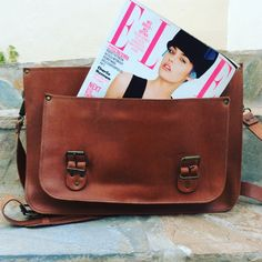 New Leather Messenger Bag Real Leather Bag by madammeshushu