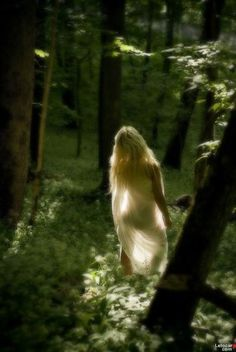 ♀ Feminine beauty Fashion Editorial photography fairy in the green forest?