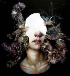 Marco Mazzoni - Milan, Italy artist. Awesome use of negative space and juxtaposition