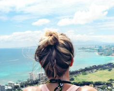 Beach Hair 101: A braided topknot - tried it yesterday and it's awesome.