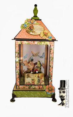 The Gentleman Crafter: New Tutorial and Kits Done: Springtime Lantern!! --this would be great in xmas paper for winter lantern